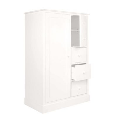 Ashwell Cotton White 2 Door 3 Drawer Wardrobe Best Price, Cheapest Prices