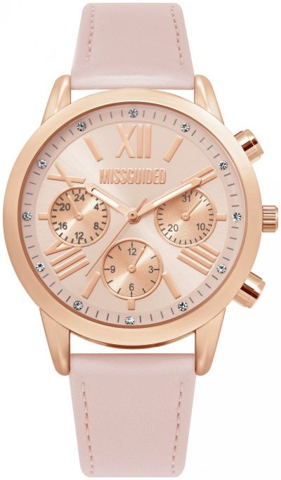Missguided Pink Faux Leather Strap Watch Best Price, Cheapest Prices