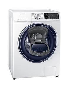 Samsung WW80M645OPM/EU 8kg Load, 1400 Spin QuickDrive™ Washing Machine with AddWash™ and 5 Year Samsung Parts and Labour Warranty - White Best Price, Cheapest Prices