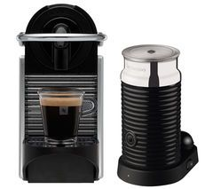NESPRESSO by Magimix Pixie 11323 Coffee Machine with Aeroccino - Aluminium Best Price, Cheapest Prices