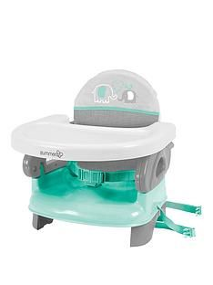 Summer Infant Deluxe Comfort Folding Booster Seat - Teal Grey