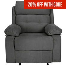 Argos Home June Fabric Manual Recliner Chair - Charcoal Best Price, Cheapest Prices