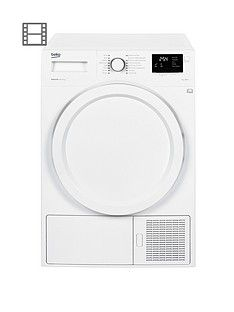Beko Dhy7340W 7Kg Condenser Dryer With Heat Pump - White Best Price, Cheapest Prices