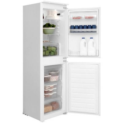 Hotpoint Day 1 HMCB5050AA Integrated 50/50 Fridge Freezer with Sliding Door Fixing Kit - White - A+ Rated Best Price, Cheapest Prices