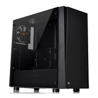 ThermalTake Versa J21 TG, Black, Mid Tower Computer Chassis, w/ Tempered Glass Window, ATX/MicroATX/Mini-ITX, 120mm Fan Best Price, Cheapest Prices