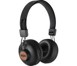 HOUSE OF MARLEY Positive Vibration 2 Wireless Bluetooth Headphones - Black Best Price, Cheapest Prices