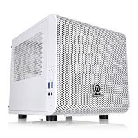 Thermaltake Core V1 White Snow Edition Mini-ITX Cube Case with Window, 1x 200mm Fan Included, USB 3.0, w/o PSU Best Price, Cheapest Prices