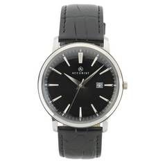 Accurist Men's Black Leather Strap Watch Best Price, Cheapest Prices