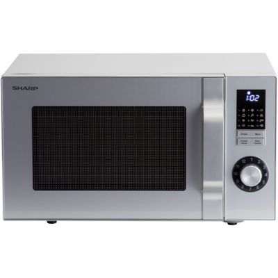Sharp R244SLM 23 Litre Microwave - Silver Best Price, Cheapest Prices