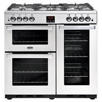 Belling Cookcentre 90G Professional 90cm Gas Range Cooker in Stainless Steel Best Price, Cheapest Prices