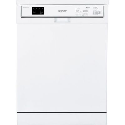Sharp QW-HY24F472W Standard Dishwasher - White - A++ Rated Best Price, Cheapest Prices
