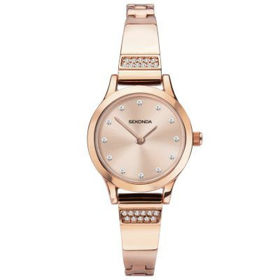 Sekonda Ladies Rose Gold Coloured Bracelet Watch Best Price, Cheapest Prices