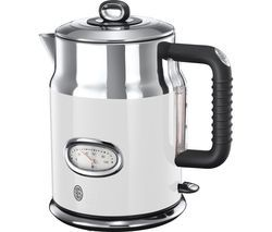 RUSSELL HOBBS Retro 21674 Jug Kettle - White Best Price, Cheapest Prices