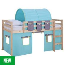 Argos Home Kaycie Pine Mid Sleeper with Blue Tent Best Price, Cheapest Prices