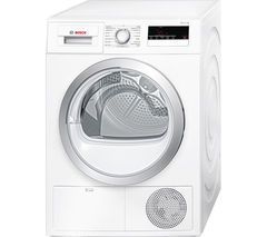BOSCH Serie 4 WTN85200GB Condenser Tumble Dryer - White Best Price, Cheapest Prices