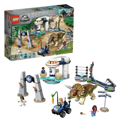 LEGO Jurassic World Triceratops Rampage Dinosaur Toy 75937 Best Price, Cheapest Prices