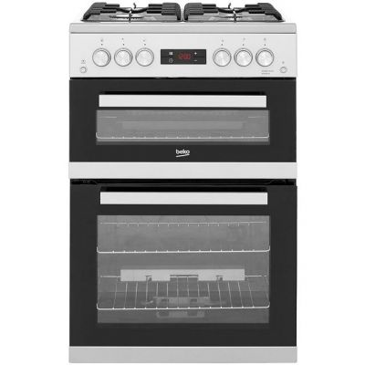 Beko KDG653S 60cm Gas Cooker with Full Width Gas Grill - Silver - A+/A Rated Best Price, Cheapest Prices