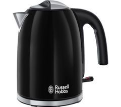 RUSSELL HOBBS Colours Plus 20413 Jug Kettle - Black Best Price, Cheapest Prices