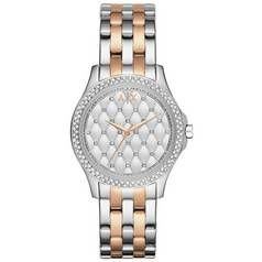 Armani Exchange Ladies Silver and Rose Gold Bracelet Watch Best Price, Cheapest Prices
