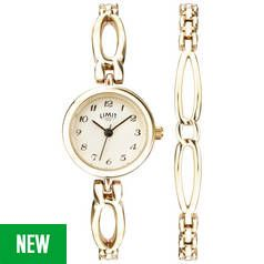 Limit Gold Plated Ladies Watch and Bracelet Set Best Price, Cheapest Prices