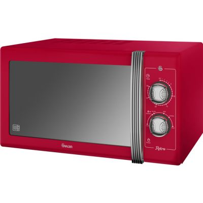 Swan Retro SM22070RN 25 Litre Microwave - Red Best Price, Cheapest Prices
