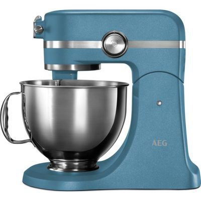 AEG Ultramix KM5560 Stand Mixer with 4.8 Litre Bowl - Blue Best Price, Cheapest Prices