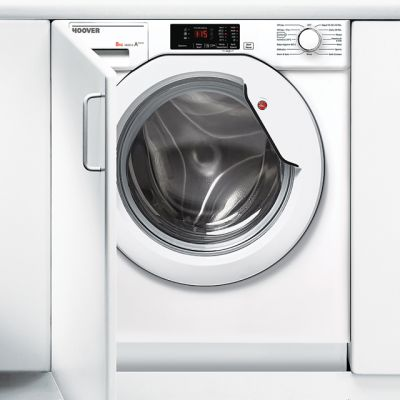 Hoover HBWM814D Integrated 8Kg Washing Machine with 1400 rpm - A+++ Rated Best Price, Cheapest Prices