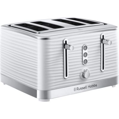Russell Hobbs Inspire 24380 4 Slice Toaster - White Best Price, Cheapest Prices