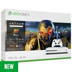Xbox One S 1TB Console & Anthem Bundle Best Price, Cheapest Prices