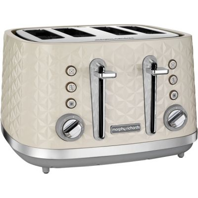 Morphy Richards Vector 248132 4 Slice Toaster - Cream Best Price, Cheapest Prices