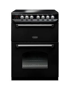Rangemaster  CLAS60ECBL Classic 60cm Electric Cooker with Ceramic Hob - Black Best Price, Cheapest Prices