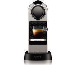 NESPRESSO by Krups CitiZ XN741B40 Coffee Machine - Silver Best Price, Cheapest Prices