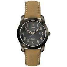 Timex Men's Brown Leather Strap Classic Watch
