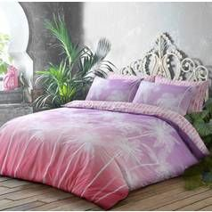 Argos Home Pink Ombre Palm Bedding Set - Double Best Price, Cheapest Prices