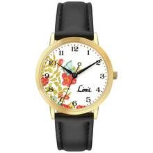 Limit Ladies' Floral Dial Black Strap Watch Best Price, Cheapest Prices