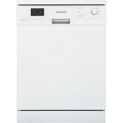 Sharp QW-GX12F492W Standard Dishwasher - White - A++ Rated Best Price, Cheapest Prices