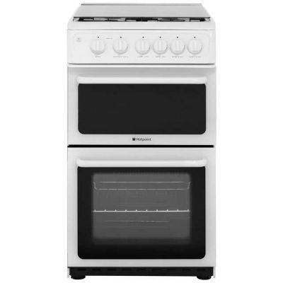 Hotpoint HAGL51P Gas Cooker - White Best Price, Cheapest Prices