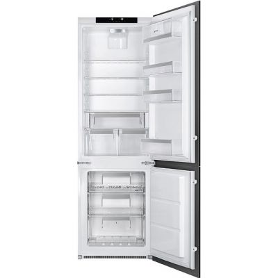 Smeg UKC7280NLD2P1 Integrated 70/30 Frost Free Fridge Freezer with Sliding Door Fixing Kit - White - A++ Rated Best Price, Cheapest Prices