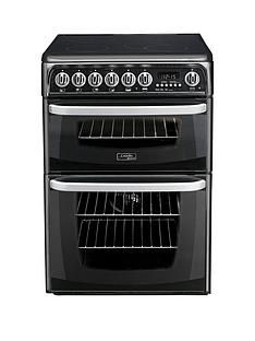 Cannon By HotpointCH60EKK60cm Double Oven Electric Cooker with CeramicHob - Black Best Price, Cheapest Prices