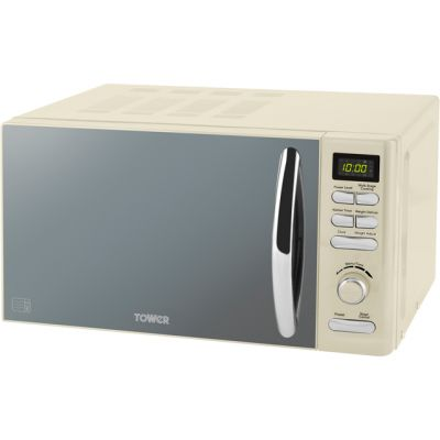 Tower T24019C 20 Litre Microwave - Cream Best Price, Cheapest Prices
