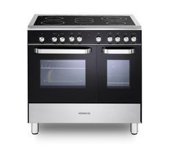 KENWOOD CK408/1 Electric Ceramic Range Cooker - Black Best Price, Cheapest Prices