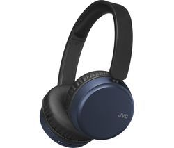 JVC HA-S65BN-A-U Wireless Bluetooth Noise-Cancelling Headphones - Blue Best Price, Cheapest Prices