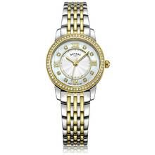 Rotary Ladies' Two Tone Gold Plated Crystal Set Watch Best Price, Cheapest Prices