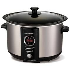 Morphy Richards 3.5L Digital Sear & Stew Slow Cooker - Steel Best Price, Cheapest Prices