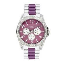 Identity Lux Two Tone Purple Dial Bracelet Watch Best Price, Cheapest Prices