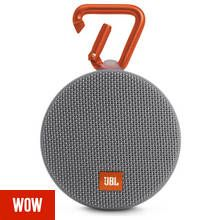 JBL Clip 2 Waterproof Portable Speaker - Grey Best Price, Cheapest Prices