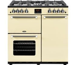 BELLING Kensington 90G Gas Range Cooker - Cream Best Price, Cheapest Prices