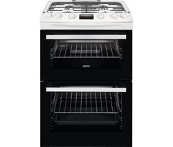 ZANUSSI ZCG63260WE 60 cm Gas Cooker - White Best Price, Cheapest Prices