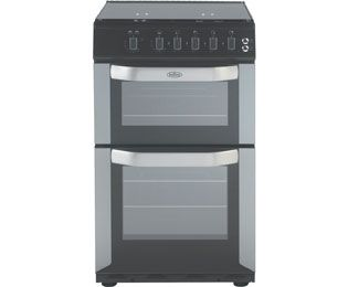 Belling FSG50DO 50cm Gas Cooker with Electric Grill - Silver - A/B Rated Best Price, Cheapest Prices