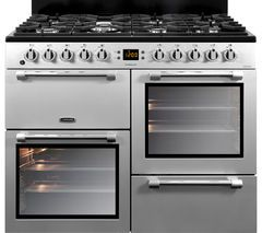 LEISURE Cookmaster 100 CK100F232S 100 cm Dual Fuel Range Cooker - Silver & Chrome Best Price, Cheapest Prices